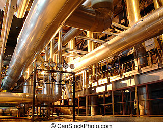steam pipes on power plant