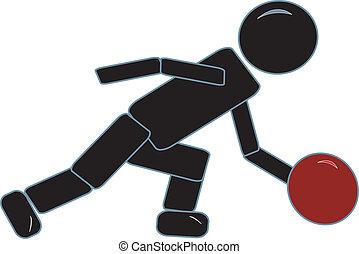 Stick Figure Bowling
