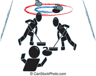 Stick Figure Curling Team