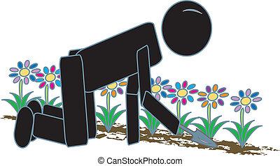 Stick Figure Gardening