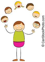 stick figure - juggling people