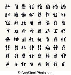 Stick Figure. Love