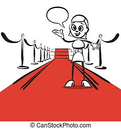 Stick figure series emotions - opening red carpet