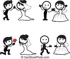 stick figure wedding