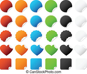 Sticker Badge Set Vector