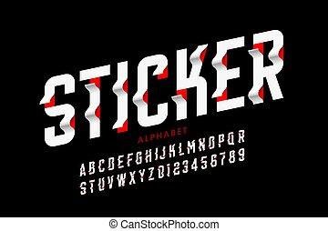 Sticker style font