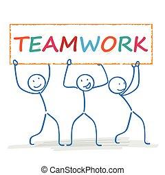 Stickman 3 Banner Teamwork