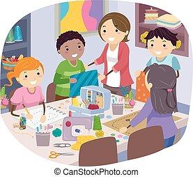 Stickman Kids Sewing Class