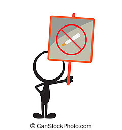 stickman no smoking signboard