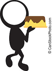 stickman with cake