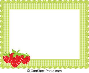 Strawberry Gingham Frame