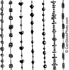 Beads on a string collection. Vector EPS8.