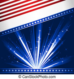 Stylised USA flag