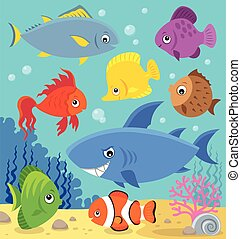 Stylized fishes topic image 5