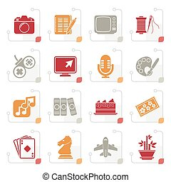 Stylized Hobbies and leisure Icons