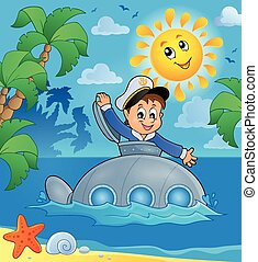 Submarine with sailor theme image 3