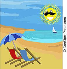 summer holiday illustration