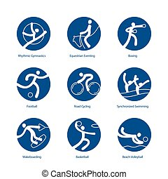 Summer Sports pictograms