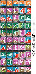 Summer Sports Symbols - Colorful