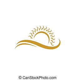 summer swoosh beach icon gold color