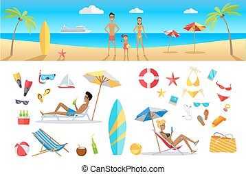 Summer Vacation Concept Template Set