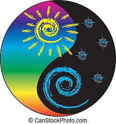 Sun and Moon Yin And Yang