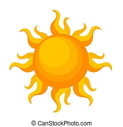 Fantasy sun over white. Vector illustration