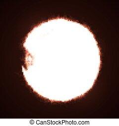 Sun in dark space