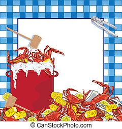 Crab Boil party invitation