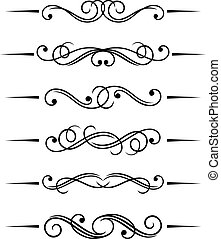 Swirl elements and monograms for design and decorate