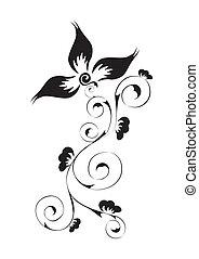 swirl floral pattern