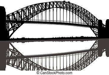 Sydney Harbour Bridge Silhouette