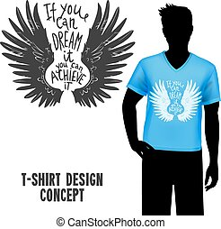 T-shirt Design With Lettering