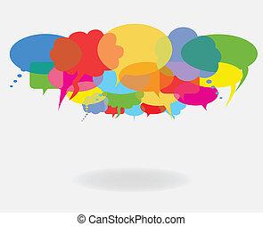 Social network talk and speech bubbles