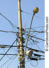 tangle of electrical wires