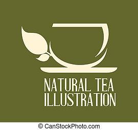 tea design over background, vector illustration