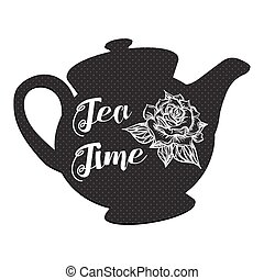 Tea Time with rose