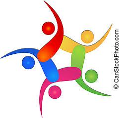 Team 5 swooshes logo