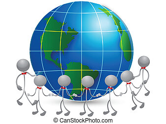 Team around world logo