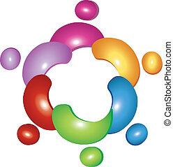 Team flower logo