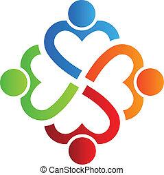 Team Heart 4 Logo Vector