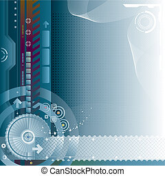 Abstract technology digital background of Vector layered.