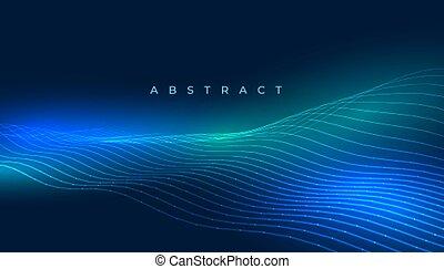 technology lines background with blue glowing lights