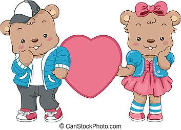 Teddy Bear Hearts