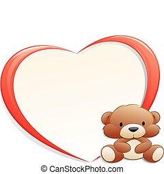 Teddy Bear with Frame