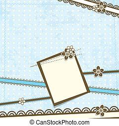 Template scrap card, vector illustration, eps10