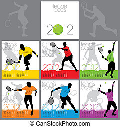 Tennis Aces 2012 Calendar Template