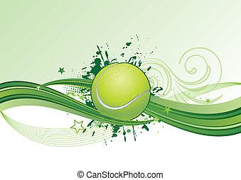 vector tennis design element