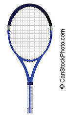 A single tennis racket isolated over a white background