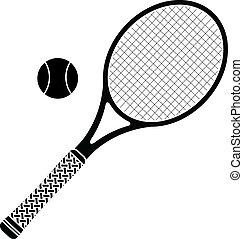 tennis racket. stencil. vector illustration